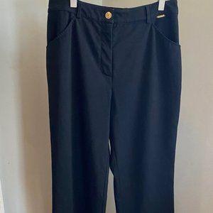 St. John Collection Black Trouser Wide Leg Pants